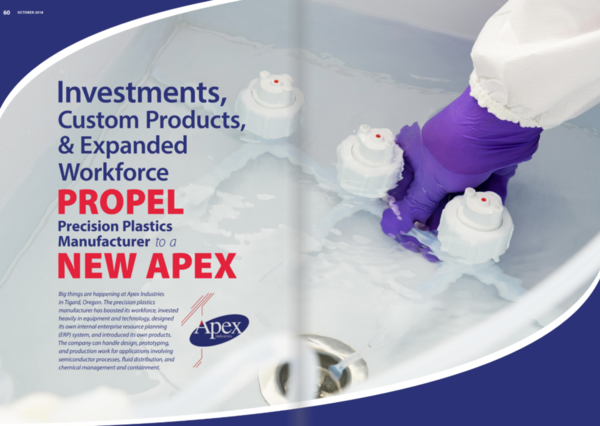 Apex feature in Manufacturing in Focus magazine
